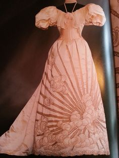 Victorian dress with the 'Rising Sun' of Japan.