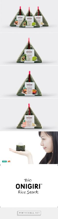 Onigiri - Alphakanal the clever #packaging might entice me to eat this rice snack curated by Packaging Diva PD created via http://www.alphakanal.com/portfolio/onigiri-rice-snack