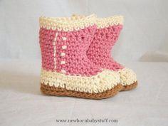 Crochet Baby Booties Victorian Baby Booties #crochet...