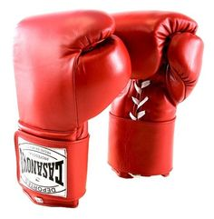 Original Deportes Casanova Sparring/Training Hybrid Boxing Gloves W/ Hook & Loop - Red - 18 oz