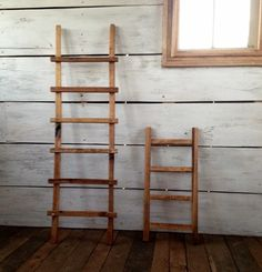 Wood Ladder Decorative Wood Ladder Primitive Wood by DillonMade