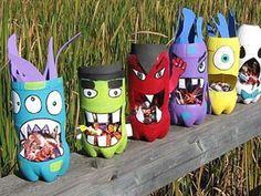 Lavoretti di riciclo creativo per bimbi - Mostri colorati