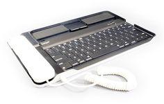 テレビ電話にもなる! iPad対応のBluetoothキーボードとハンドセット【イケショップのレア物】