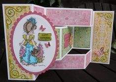 Jackies house of cards: Tri-Shutter tutorial with measurements for the design paper