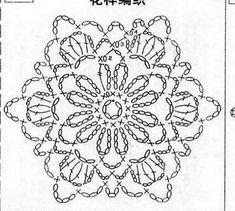 Crochet Flowers Design Patterns and motifs: Crocheted motif no. Crochet Snowflake Pattern, Crochet Motif Patterns, Crochet Stars, Crochet Snowflakes, Crochet Mandala, Crochet Diagram, Crochet Doilies, Crochet Flowers, Crochet Stitches
