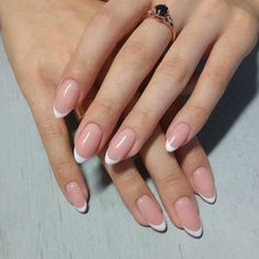 Stunning almond nails in traditional french manicure style! Stunning almond nails in traditional french manicure style! Stunning almond nails in traditional french manicure style! French Nails, Almond Nails French, French Manicure Acrylic Nails, Short Almond Nails, Almond Acrylic Nails, Oval Nails, Nail Manicure, Manicure Ideas, French Manicures