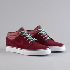 #Nike SB Zoom Stefan Janoski Mid - Team Red / Crystal Mint #burnwilliams  #solecollector