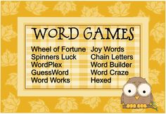 Love word games!