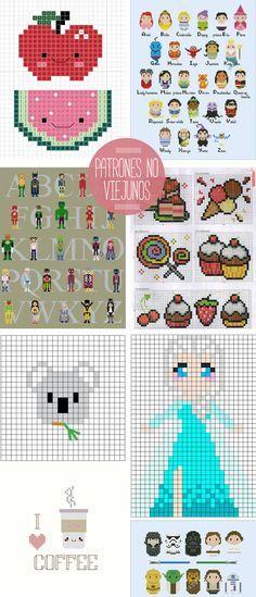 punto de cruz 2 Simple Cross Stitch, Cross Stitch Cards, Cross Stitching, Cross Stitch Embroidery, Frozen Disney, Knit Patterns, Cross Stitch Patterns, Pixel Beads, Hama Beads