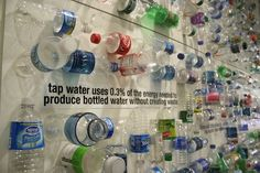 Project that could be put on a wall in the school. Backstory: In an effort to educate employees about the negative environmental impact of drinking bottled water, the FOXe energy team at Fox Television Stations in Philadelphia constructed a display using the contents of one vending machine's worth of cans and bottles. The project, which took up an entire wall in the WTXF FOX 29 studio, also provided employees with facts and tips encouraging them to drink tap water from reusable cups…