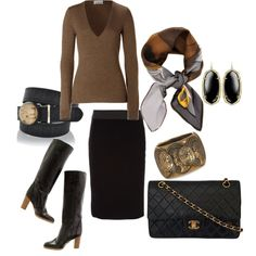 Fabulous office attire, maybe without boots and just a classic black heel