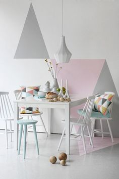 triangles mur pastel - Buscar con Google