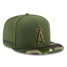 Los Angeles Angels New Era 2017 Memorial Day 59FIFTY Fitted Hat - Green c584aee91ba