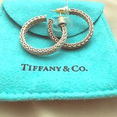 Pre owned Tiffany & Co. Somerset Hoop Earrings Purchased at Tiffany for $400 +tax. Tiffany Basic Somerset Hoop Earrings. Tiffany & Co. Jewelry Earrings