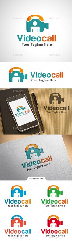 Video Call  - Logo Design Template Vector #logotype Download it here: http://graphicriver.net/item/video-call-logo/10523161?s_rank=1022?ref=nexion