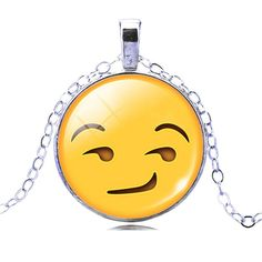 Make someone smile and express your feelings with an emoji necklace! The perfect gifts for teens or anyone who is young at heart and appreciates fun! A clear glass domed cabochon encases this stunning