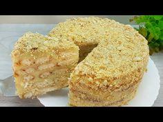 Kuchen in 5 Minute! Sie werden diesen Kuchen jeden Tag machen. OHNE OFEN! Napoleon Torte #192 - YouTube Cake Mix Recipes, Dessert Recipes, Napoleon Torte, Desserts With Biscuits, How Sweet Eats, No Bake Cake, Easy Desserts, Cupcake Cakes, Sweet Treats