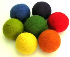 Wool Yarn Felted Dryer Balls