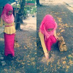 #astri hijab pinkvsyellow
