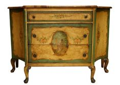 Venetian Rococo hand painted commode,turn of Century