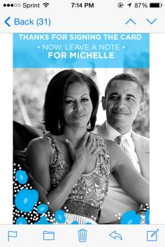 I SIGNED FIRST LADY MICHELLE OBAMA MOTHER'S DAY CARD!