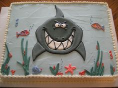 I could just do a sheet cake like this with a Shark, I suppose.