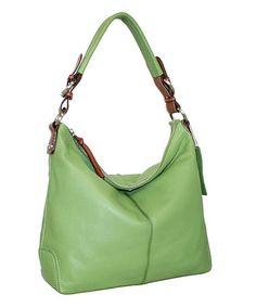 Look at this #zulilyfind! Leaf Jara's Jem Leather Hobo by Nino Bossi Handbags #zulilyfinds