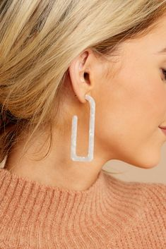 Lifts Us Up White Tassel Earrings Cute Cardigans, Cute Sweaters, Sweaters For Women, White Tassel Earrings, Gold Earrings, Diy Jewelry, Jewelry Accessories, Jewellery, Ceramic Christmas Decorations