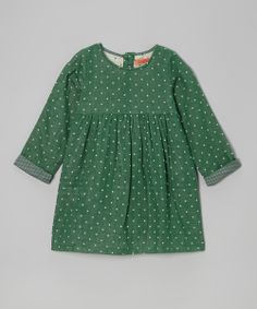 Green Square Babydoll Dress