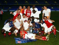 Team Celebrates After Winning the League at White Hart Lane.