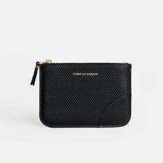 Comme des Garcons — Luxury Small Zip Top Pouch   Black — THE LINE