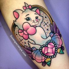 Marie from Aristocats Tattoo by Linnea Pecsenye @linneatattoos in Asheville, NC