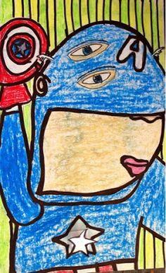 Kim & Karen: 2 Soul Sisters (Art Education Blog): Super Heroes Picasso Style (Mike Esparaza)
