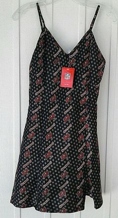 40bd207409 Details about Tampa Bay Buccaneers NFL For Her Silky Sleepwear Nightie  Camisole S or M New