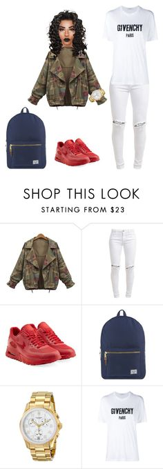 """Untitled #82"" by priscillay5 on Polyvore featuring FiveUnits, NIKE, Herschel Supply Co., Victorinox Swiss Army and Givenchy"