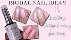 3 SIMPLE WEDDING NAIL DESIGN IDEAS FOR BRIDES & NAIL TECHS USING LUMINARY.. - YouTube Simple Wedding Nails, Wedding Nails Design, Simple Weddings, Engagement Nails, Bride Nails, Fall Nail Designs, Nail Tech, Nail Care, Acrylic Nails