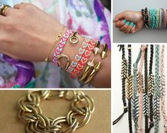 Cool DIY Bracelets | 20 Beautiful Handmade Designs for Rings, Bracelets and Necklace, see tutorials at  http://diyready.com/diy-jewelry-ideas/