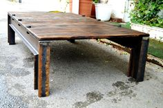 Handmade industrial table by StahlmanufakturWind on Etsy