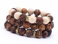 Wristbands & Bracelets – Set bracelets Agate NAT09 – a unique product by Blackif on DaWanda