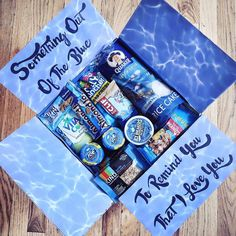 32 College Care Package-Ideen, die jeder Student lieben wird - - Gifts box ideas, Gifts for teens,Gifts for boyfriend, Gifts packaging Cute Birthday Gift, Birthday Gifts For Best Friend, Birthday Box, Blue Birthday, Birthday Gift Baskets, Crafty Birthday Gifts, Birthday Present Ideas For Best Friend, Gifts For Best Friends, Homemade Gifts For Friends