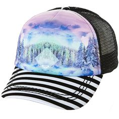 Roxy Water Come Down Womens Cap (26 AUD) ❤ liked on Polyvore featuring accessories, hats, caps, womens accessories, trucker hats, 5-panel cap, truck caps, cap hats and 5-panel hat
