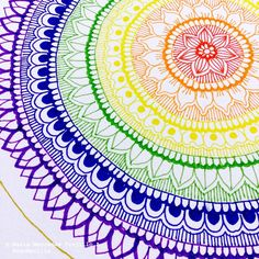 So pretty and colorful Sketch Book, Art Drawings, Doodle Art, Mandala, Mandala Design Art, Zentangle Drawings, Art Journal, Art Inspiration, Zen Art