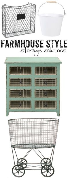 Love that farmhouse style? Get your fix of farmhouse style storage with this great collection of bins, baskets, and buckets - all in that fixer upper style! Primitive Bathrooms, Primitive Kitchen, Home Interior Design, Interior Decorating, Decorating Tips, Farmhouse Chic, Coastal Farmhouse, Farmhouse Ideas, Shabby Chic Homes