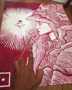 ◯◜◗┅◘◠◔◌ ┇┃┅━┃─◠◜ • X . #spirit #art #paint #painter #painting #sketch #sketching #sketchbook #draw #drawing #dessin #illustration #symbol #watercolor #acrylicpainting #moebiusmonday #moebius #paris #comics #graphicnovel #novel
