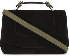 c5614fbe0307 Maje Mini suede satchel bag