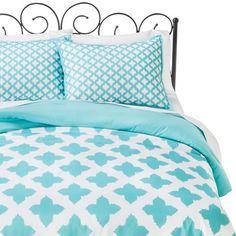 Xhilaration™ Star Reversible Comforter Set - Turquoise