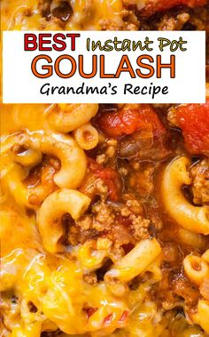 This is will be the best Instant Pot goulash youve ever made. A classic family dish that comes together easily in your pressure cooker. Its loaded with quality real ingredients that come together to make a flavorful family meal. Instant Pot Pasta Recipe, Best Instant Pot Recipe, Instant Recipes, Instant Pot Dinner Recipes, Instant Pressure Cooker, Instant Cooker, Pressure Cooker Recipes, Goulash Recipes, Recipes