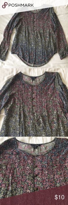 Lucky Brand floral print top Beautiful floral print women's top by Lucky Brand. Long sleeve. Perfect to wear in spring or summer. Lucky Brand Tops Blouses