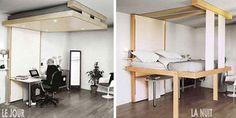 Ever since the classic fold-into-the-wall Murphy Beds came into play, designers have tried to find newer, better and more efficient ways to make the most of bedroom spaces through convertible and collapsible bed designs. The Bedup, however, might be the best such system yet.Instead of folding out from