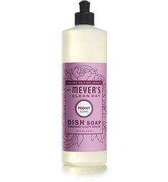 Peony Liquid Dish Soap  Mrs. Meyers anything is pretty much the best cleaning product around!  Peony happens to be my favorite scent...unfortunately it's seasonal so I've got to stock up.